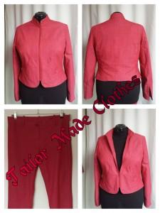 Prachtig gevoerd jasje met van de zelfe stof een broek erbij